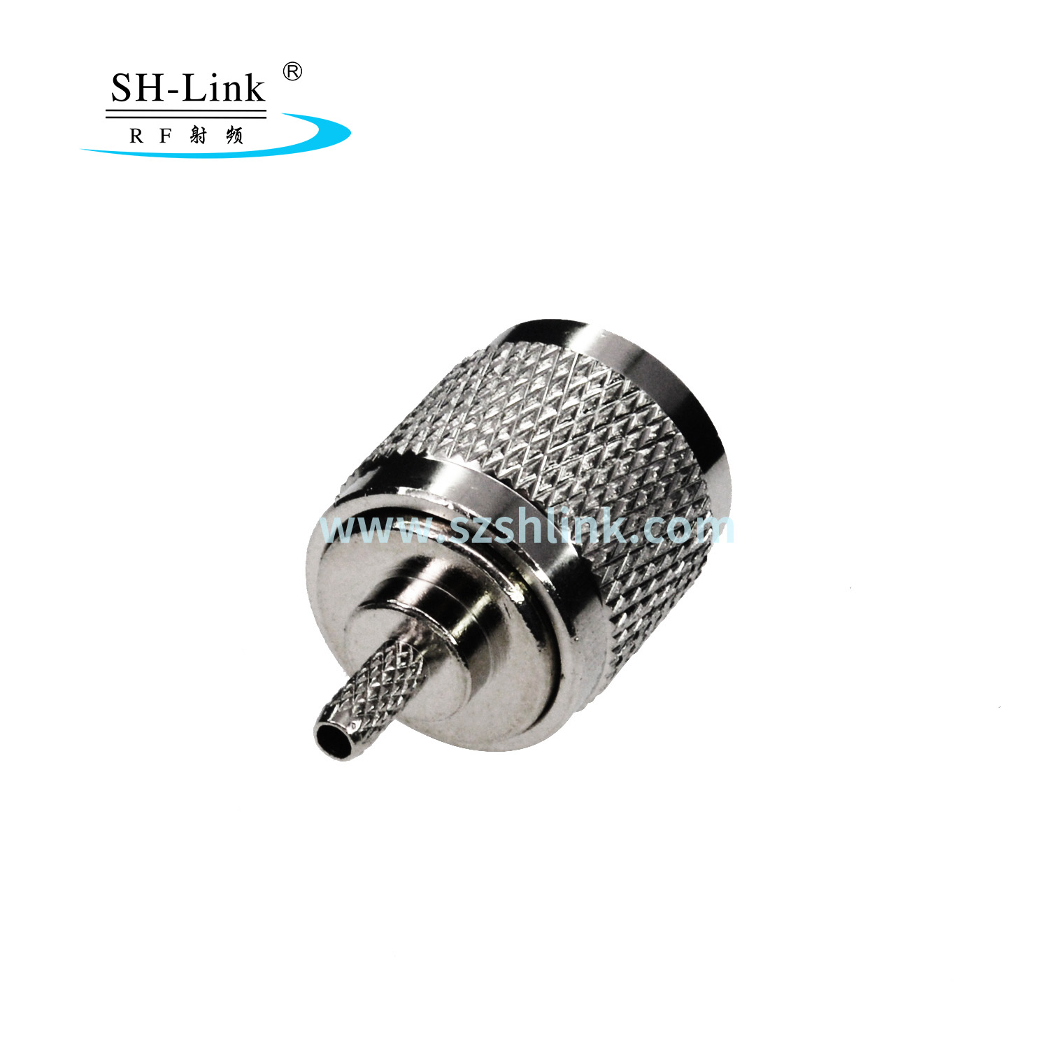 Custom coaxial cable N connector Male Crimp 50 ohm for RG174 RG316