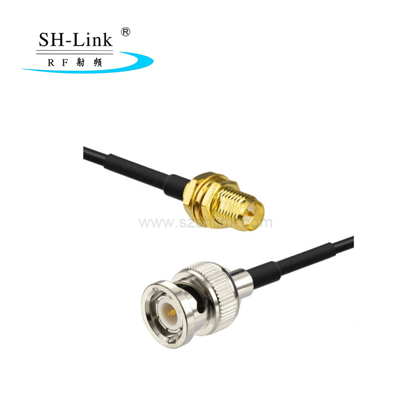 BNC male to RP SMA female with RG174 coaxial cable