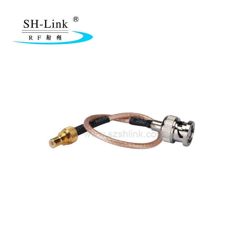 SMB male straight to BNC straight male with RG316 cable assembly