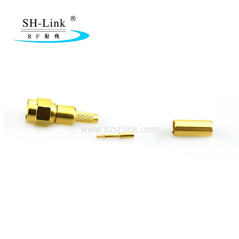 RF SMC coaxial male connector for RG316 RG174 cable