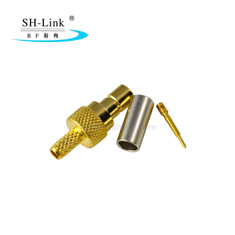 Coaxial SMB connector male to RG174,gold plating