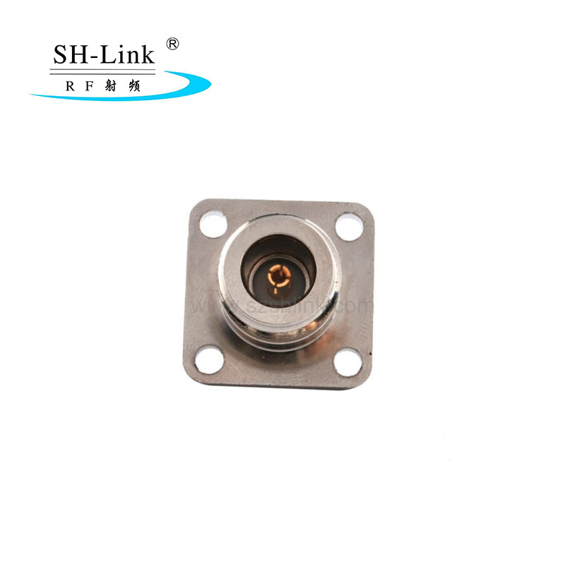 N type female to SMA female waterproof with flange adapter