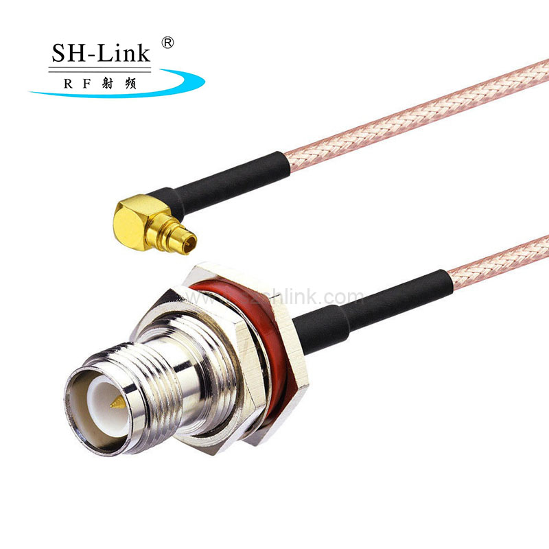 IP67 waterproof TNC female to MMCX Right angle male RG316 coaxial cable