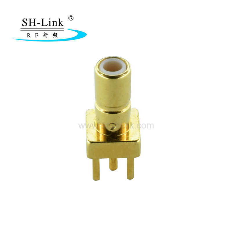 SSMB Male RF Coaxial connector 4 Pins Square Stand Connector PCB Panel Mount Plug Jack Connector