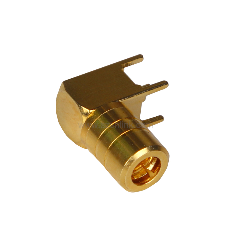 RF coaxial SMB female connector for PCB mount