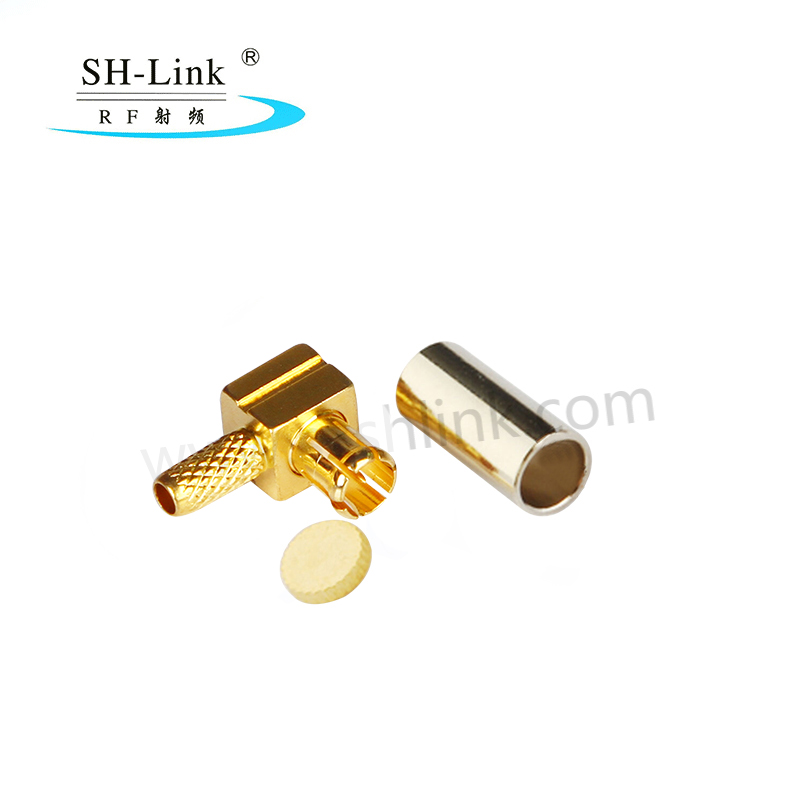 Rf coaxial connector McXjw-1.5 MCX curved male head 90 degree antenna head connected to RG174 RG316 line  (MCX-C-75JW1.5)