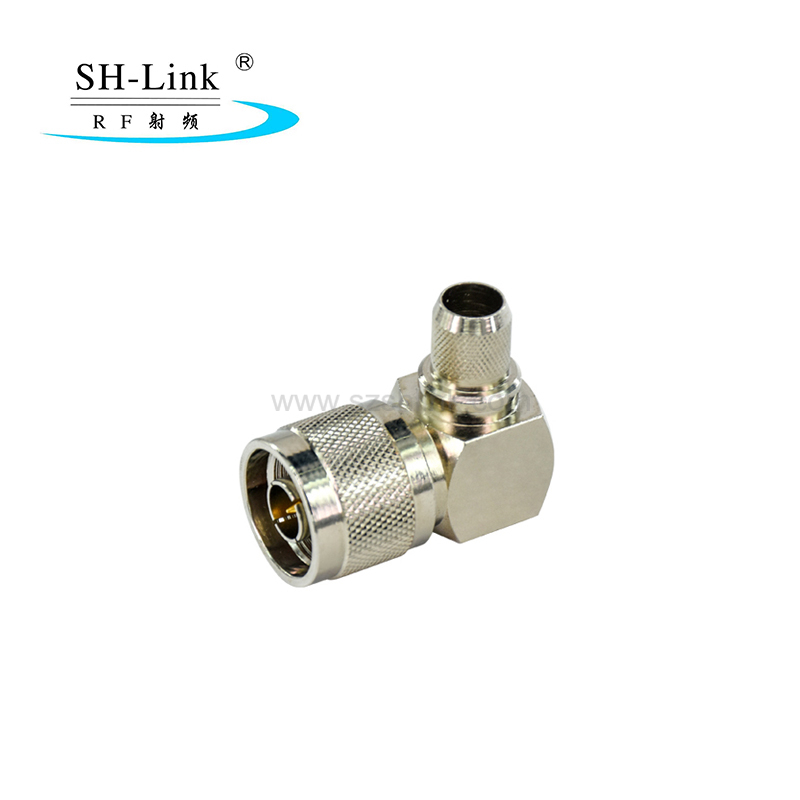 OEM right angle N plug type connector for LMR240cable,brass material