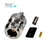 N female Crimp jack RF Connector for RG174 RG316 type Cable,N type rf connector supplier