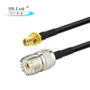 RG174 UHF female to SMA female coaxial cable
