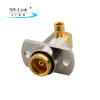 RF BMA female connector with Flange two hole solder for RG405 cable